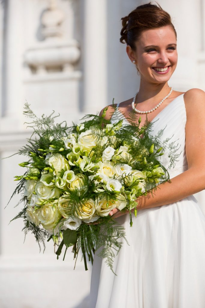 ramo de novia blanco