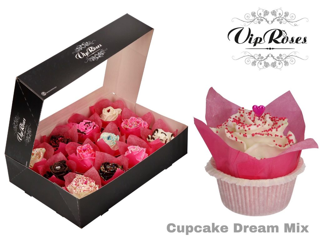 rosas cupcake dream mix