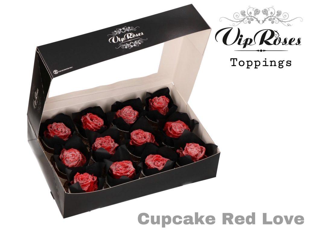 rosas cupcake red love