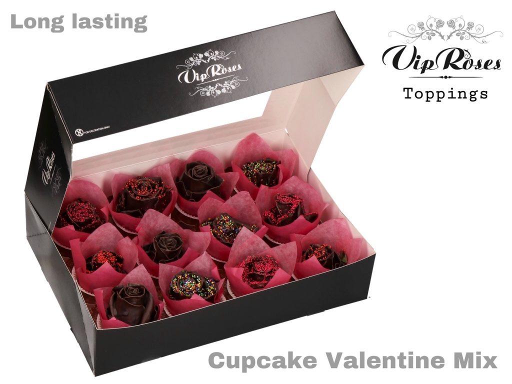 rosas cupcake valentine mix